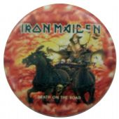 Iron Maiden - 'Death on the Road' Button Badge